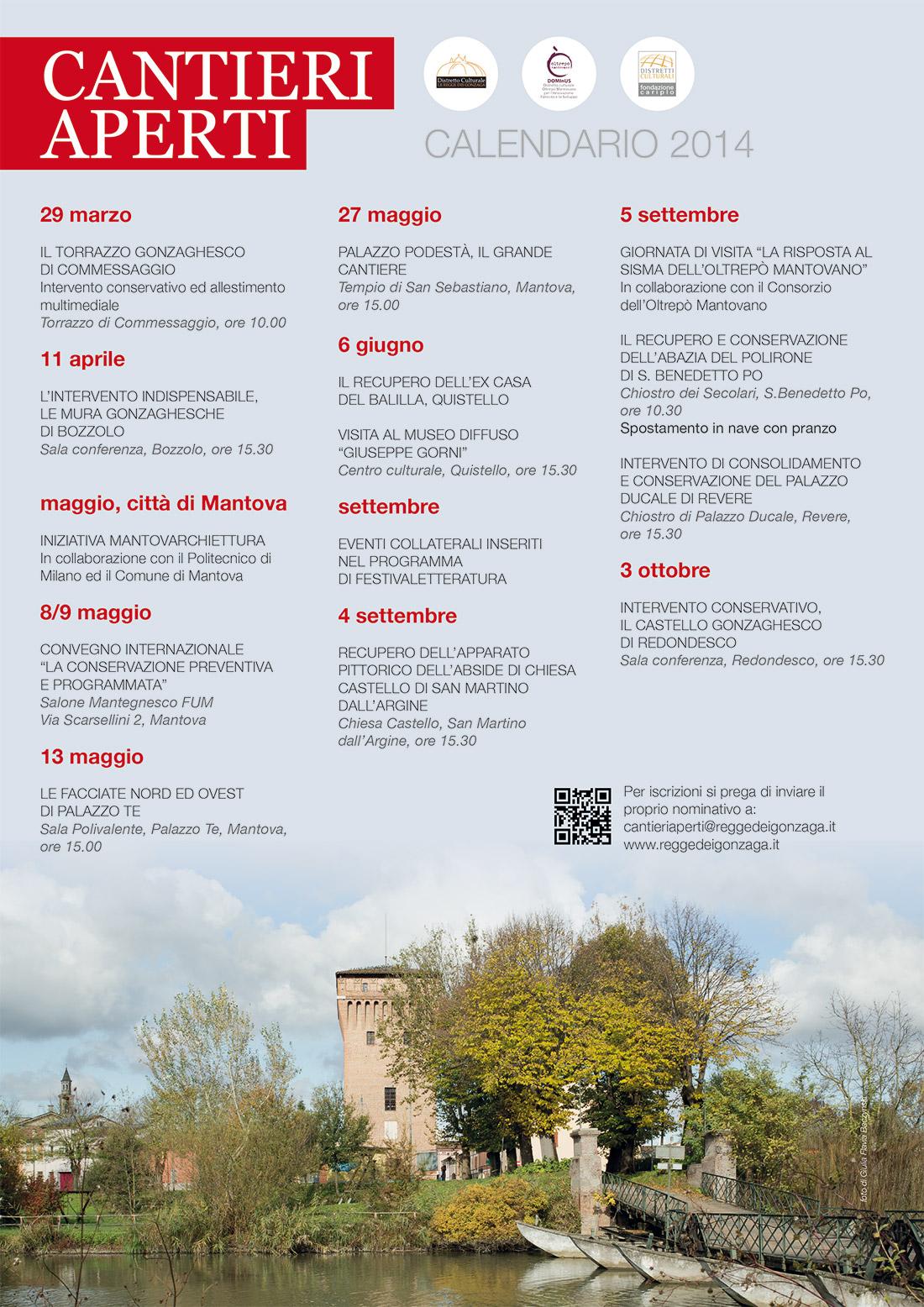 CANTIERI APERTI - Calendario